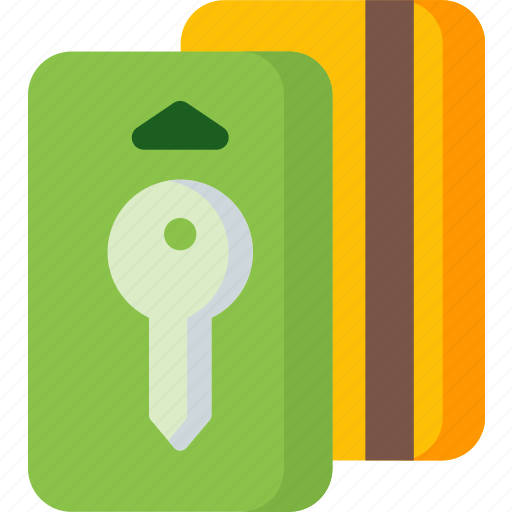 card, door, key, lock, protection, room, security icon