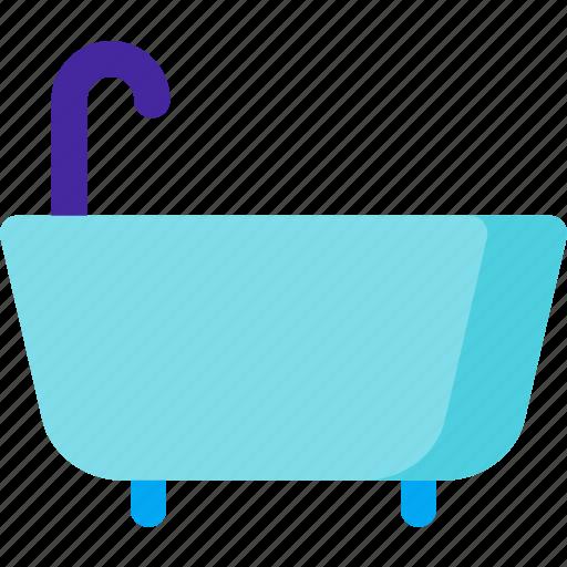 bath, bathroom, bathtub, shower, tub, wash icon