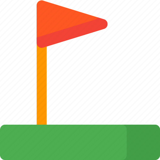 flag, game, golf, location, map, pin icon