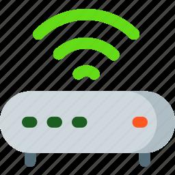 free, hotel, internet, modem, signal, wifi icon