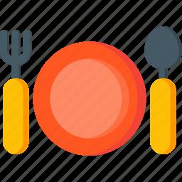 cutlery, dinner, fork, kitchen, restaurant, spoon icon