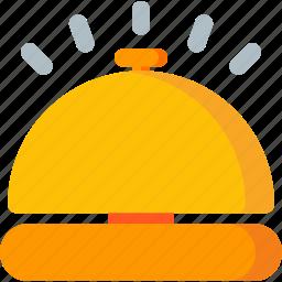 alarm, alert, bell, hotel, notification, ring, service icon