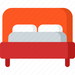 bed, furniture, hotel, interior, room, sleep, twin icon