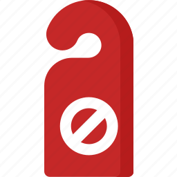disturb, enter, hotel, room, sign, sticker icon