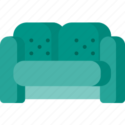 customer, furniture, hotel, lobby, service, sofa, support icon