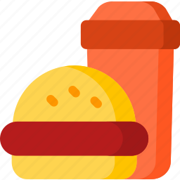 coke, drink, food, hamburger, hotel, meal, restaurant icon