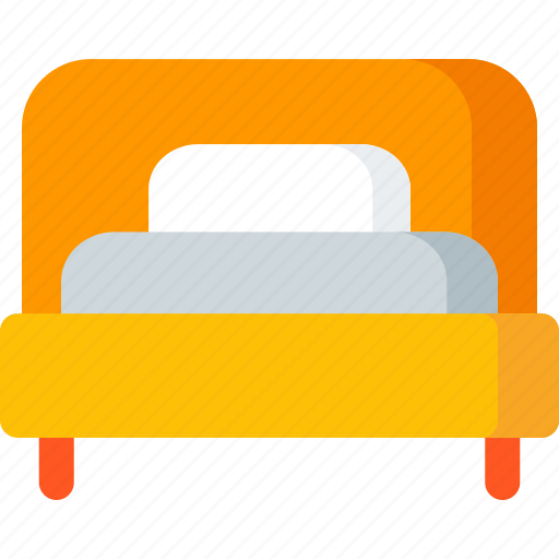 bed, bedroom, furniture, hotel, interior, room icon