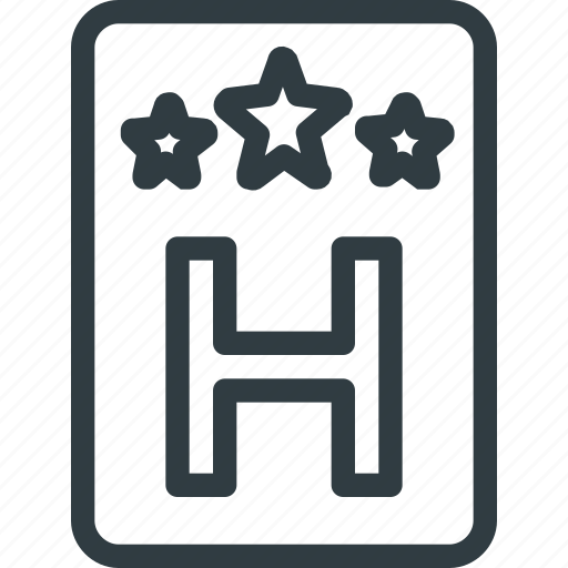 Hotel, sign, stars, three icon - Download on Iconfinder
