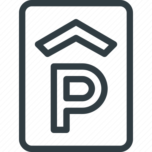 house, lot, parking, place, sign icon