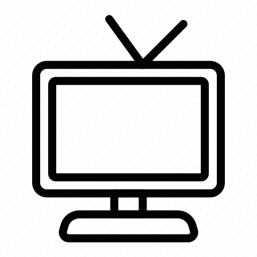 Icon, line, television icon - Download on Iconfinder