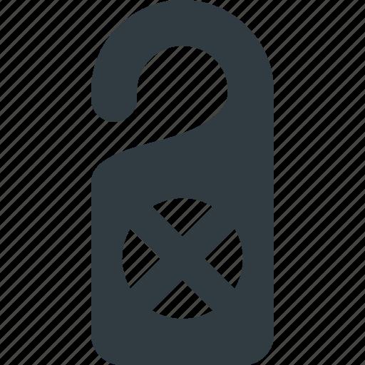Disturb, do, door, hanger, not, sign icon - Download on Iconfinder