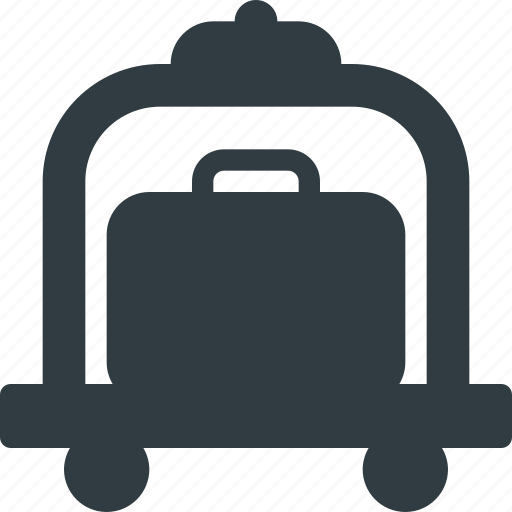 carry, cart, case, luggage icon