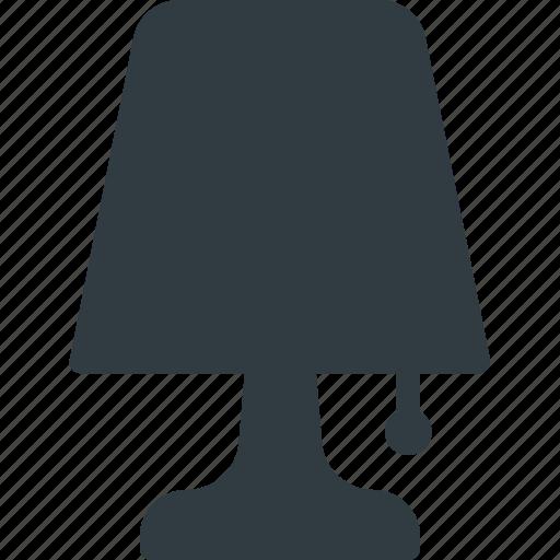 lamp, light, night icon