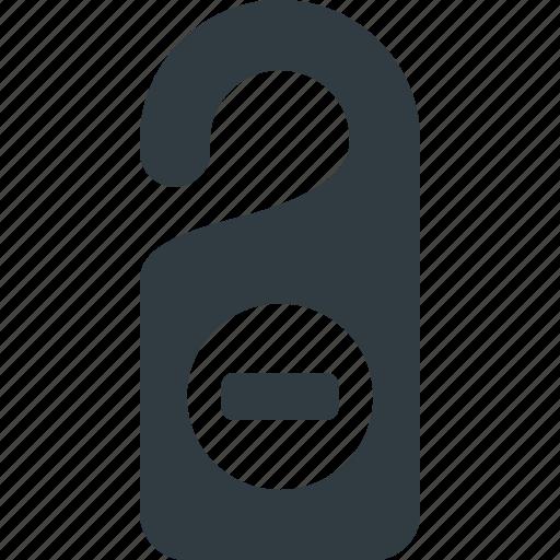 door, entry, hanger, no, sign icon