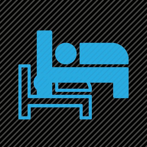 bed, hotel, sign, sleep icon