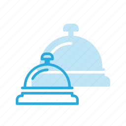 bell, check, hotel, in, reception icon