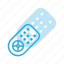 controller, remote, television, tv icon