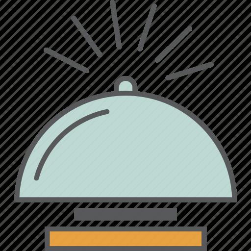 bell, desk bell, hostel, hotel, motel, reception, ring icon