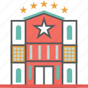 building, holidays, hotel, motel, outing, stars, vaccation icon