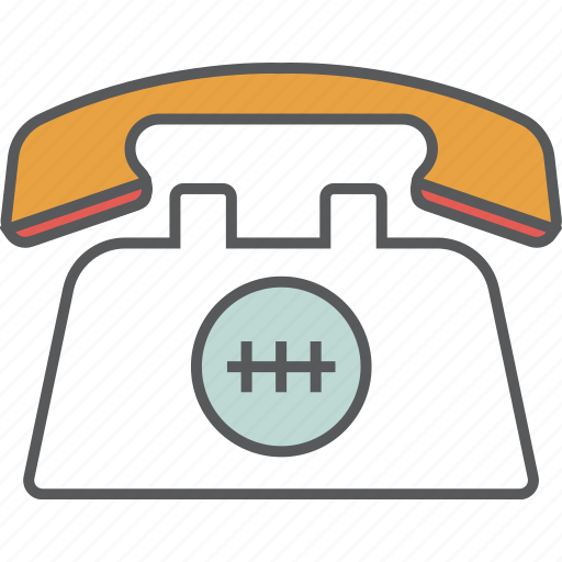 call, dialer, hotel, motel, phone, telephone, vintage phone icon