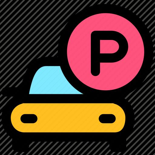 car park, hotel, p park icon