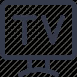 hotel, review, service, tv icon icon