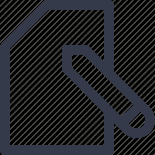 edit, paper, pen paper, write icon icon