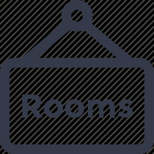 board, hanging board, hotel room, room info, room signboard icon icon