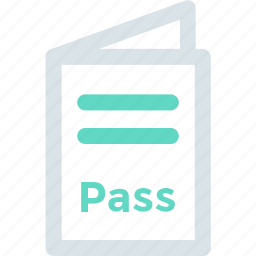 airport, pass, passport icon icon