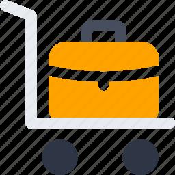 bag, facilities, hotel, luggage, suitcase, transfer icon icon