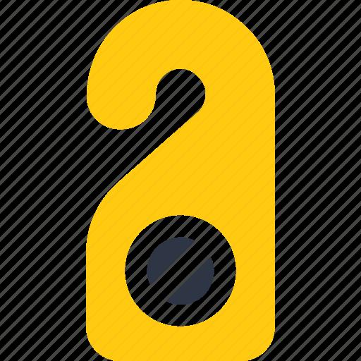 disturb, door, handle, hanger, hangers, hotel, sign icon icon