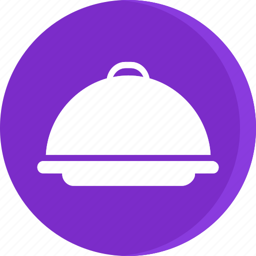 dinner, dish, food, hotel, room service, serving, waiter icon icon