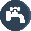 acomodation, hand, hotel, room, tap, trip, water icon icon
