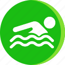 acomodation, hotel, room, service, swim, swimer, swiming icon