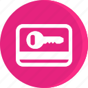acomodation, hotel, room, room key, service, trip, vacation icon