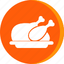 chicken, fried, hotel, meat, roast, scribble, turkey icon icon