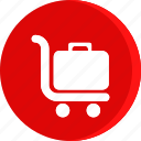 boxes, carry, hotel, load, luggage, service, trolly icon icon
