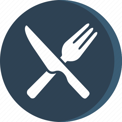 acomodation, fork, hotel, kitchen, knife, spoon, trip icon