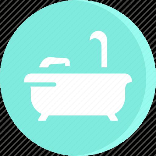 bath, bathroom, bathtub, hotel, service, shower icon, vacation icon