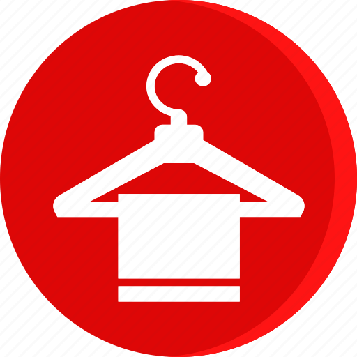 bathroom, clothing, fashion, hanger, hanger icon, hotel, towel icon