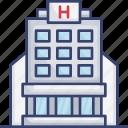 building, facilities, health, healthcare, hospital, medical icon