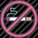 cigarette, forbidden, no, prohibited, smoking icon