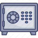 accommodation, protection, safe, safety, utilities, vault icon