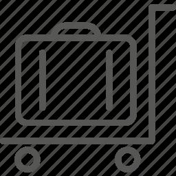 cart, luggage icon
