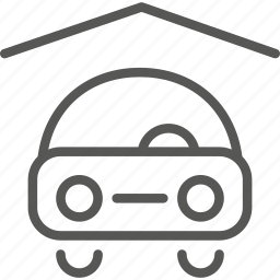 car, covered, parking icon