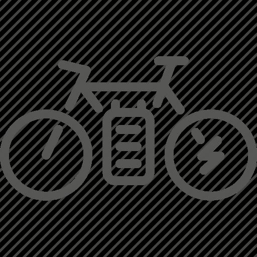 accu, bike, electric icon