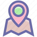 gps pin, location finder, location pin, map locator, map pin, map position icon