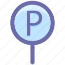 car, car parking, parking, parking sign, road, sing icon
