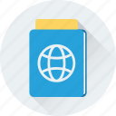 passport, permit, travel, travel id, visa icon