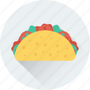 fast food, food, roll, shawarma, tacos, tortilla icon